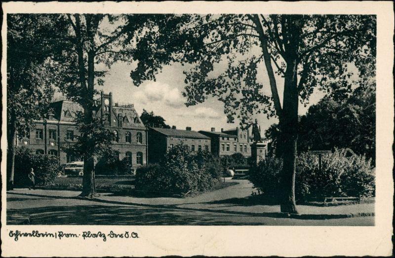 Postcard Schivelbein Świdwin Partie am Platz 1941 0