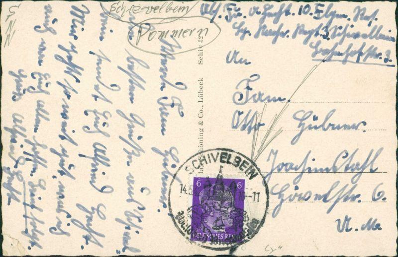 Postcard Schivelbein Świdwin Partie am Platz 1941 1