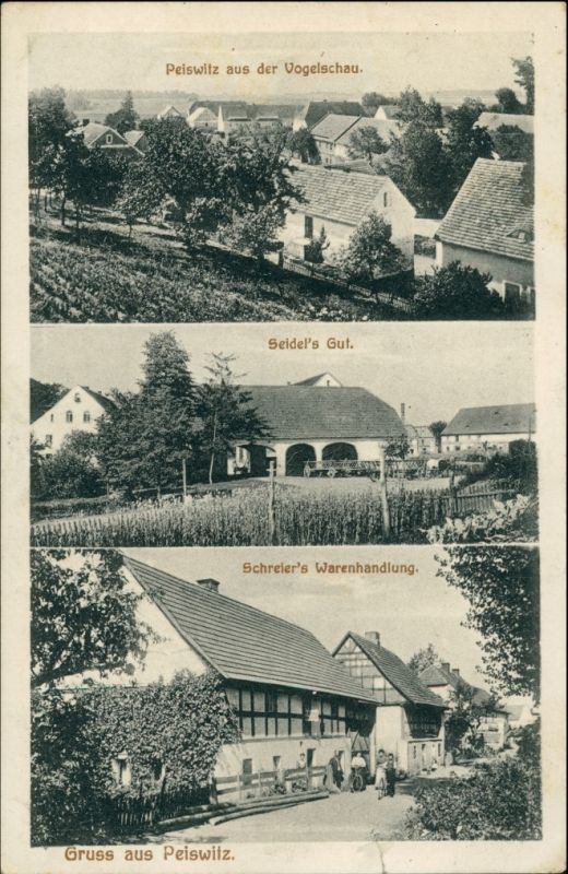 Postcard Peiswitz (b Goldberg) Pyskowice 3 Bild: Seidels Gut 1912 0