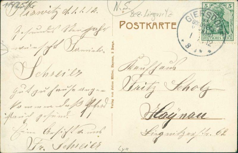 Postcard Peiswitz (b Goldberg) Pyskowice 3 Bild: Seidels Gut 1912 1