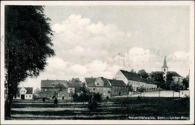 Postcard Neumittelwalde Medzibor Międzybórz Unter Ring 1941 0