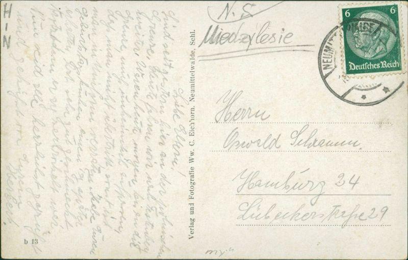 Postcard Neumittelwalde Medzibor Międzybórz Unter Ring 1941 1