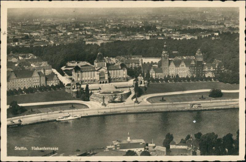 Postcard Stettin Szczecin Luftbild 1934 0