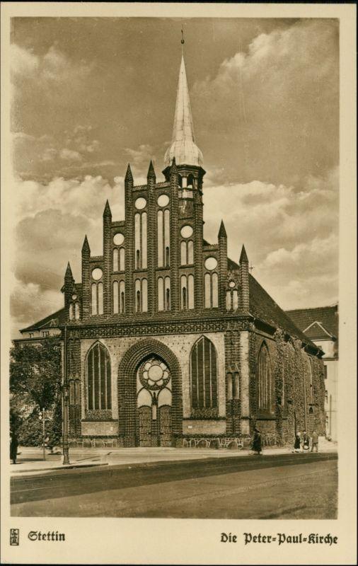 Postcard Stettin Szczecin Peter Paul Kirche 1935 0