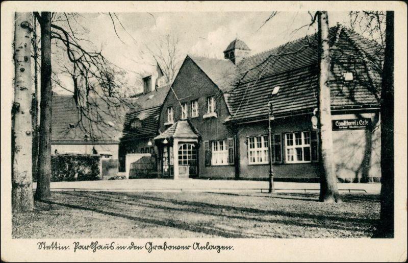 Postcard Stettin Szczecin Restaurant den Grabower Anlagen 1932 0