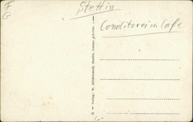 Postcard Stettin Szczecin Restaurant den Grabower Anlagen 1932 1