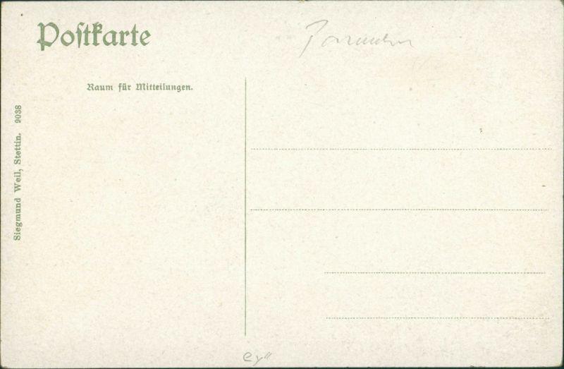 Postcard Swinemünde Świnoujście Seebrücke bei Nacht 1913 1