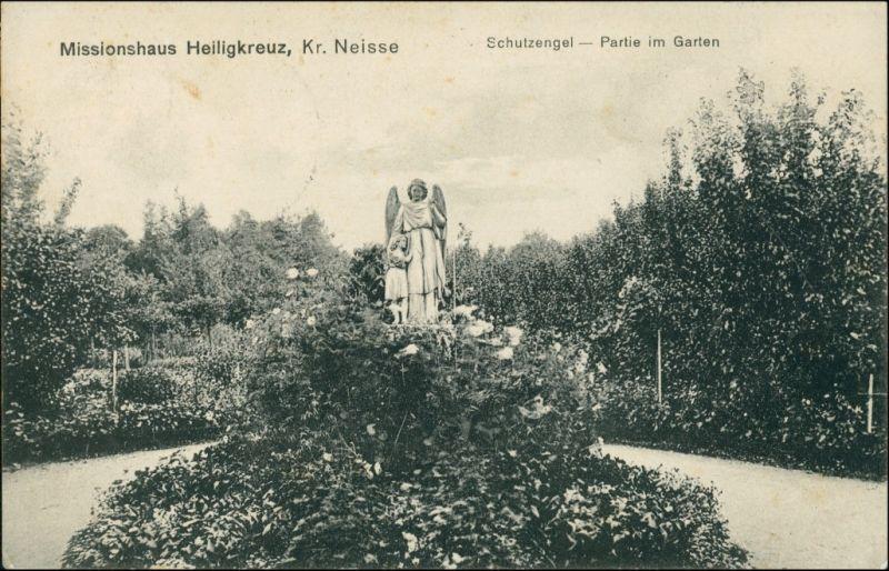 Postcard Górno Kr. Neisse - Schutzengel im Garten 1918 0