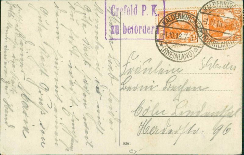 Postcard Górno Kr. Neisse - Schutzengel im Garten 1918 1