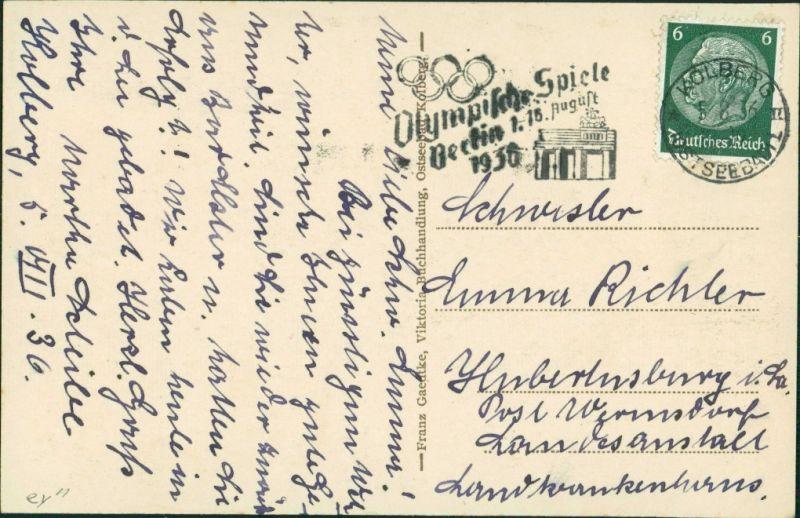 Postcard Kolberg Kołobrzeg Partie im Rosengarten 1922 1