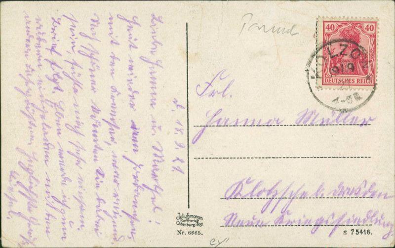 Postcard Misdroy Międzyzdroje Anlagen am Jordandsee 1913 1