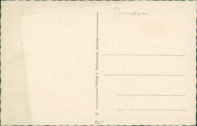 Postcard Danzig Gdańsk/Gduńsk Blick auf die Stadt 1932 1