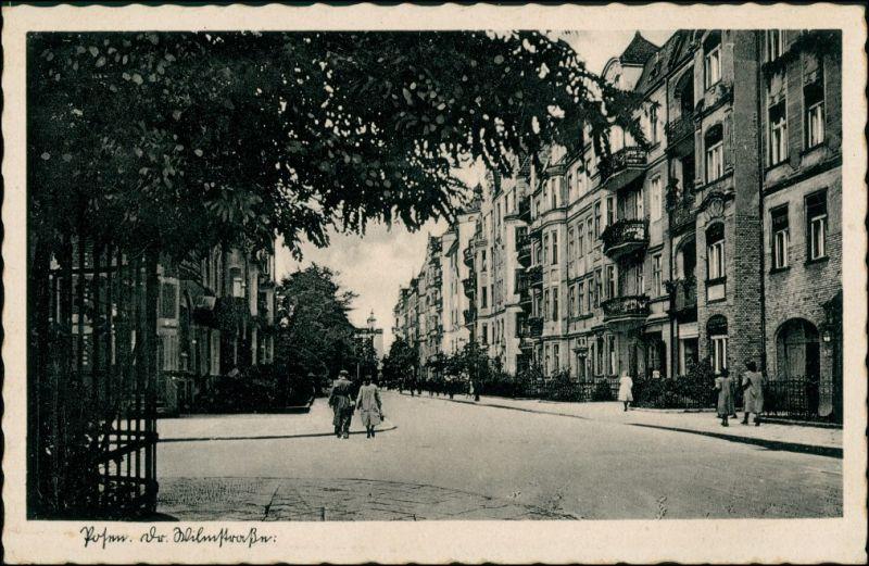 Postcard Posen Poznań Wilhelmstraße 1938 0