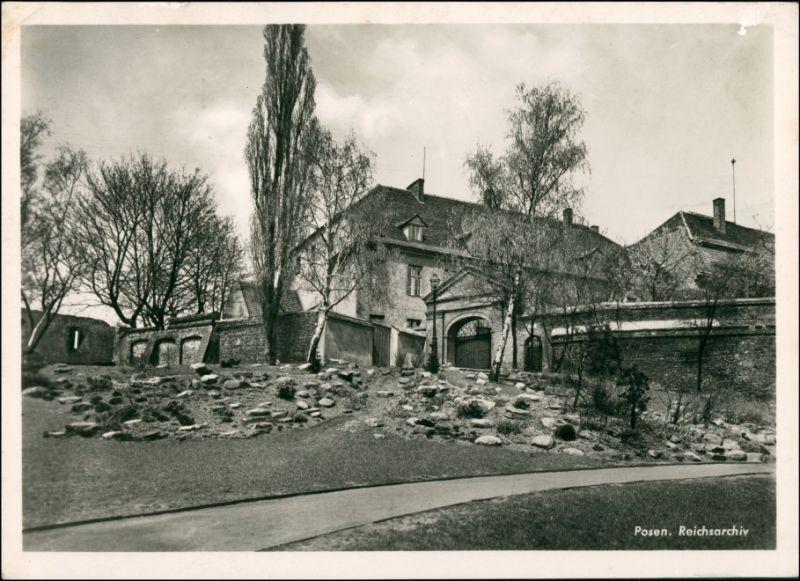 Postcard Posen Poznań Reichsarchiv 1942 0