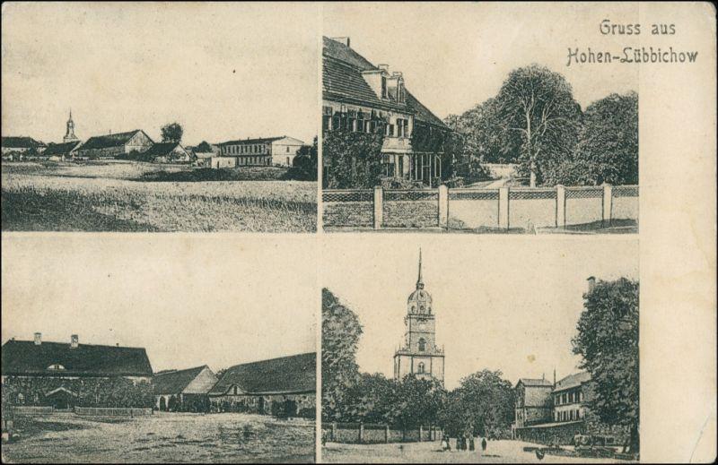 Hohenlübbichow Lubiechów Górny 4 Bild: Stadt, Straßen Zehden Greifenhagen 1909 0