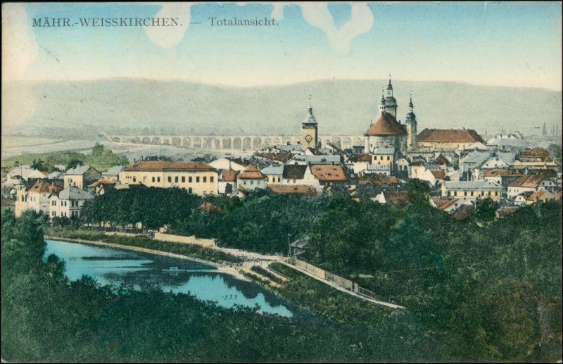 Mährisch Weißkirchen Hranice na Moravě Blick auf die Stadt 1910