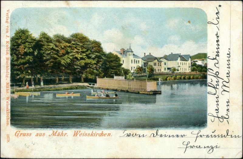 Mährisch Weißkirchen Hranice na Moravě Flusspartie - Stadt 1905