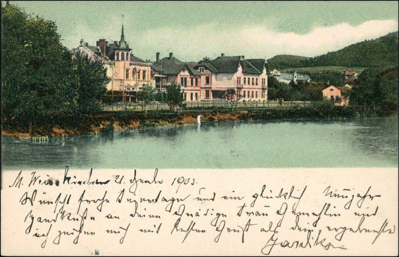 Postcard Mährisch Weißkirchen Hranice na Moravě Stadtpartie 1903