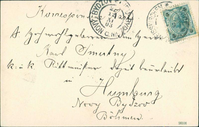Postcard Mährisch Weißkirchen Hranice na Moravě Stadtpartie 1903 1