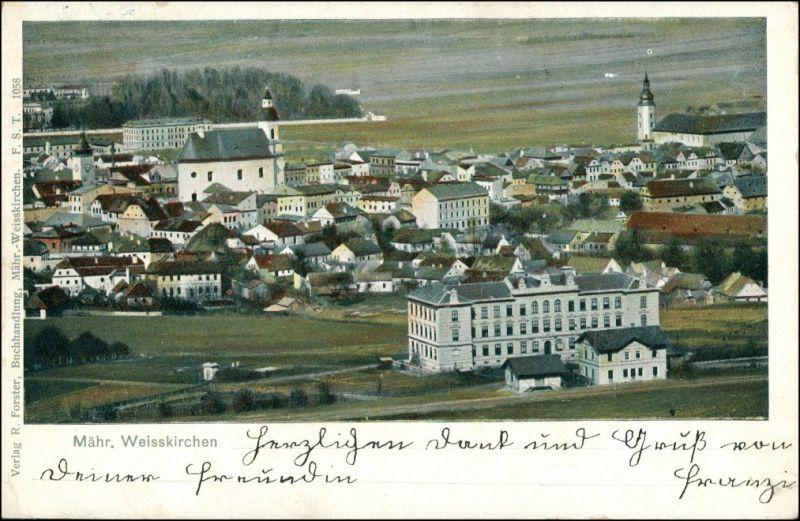 Mährisch Weißkirchen Hranice na Moravě Blick auf die Stadt 1905