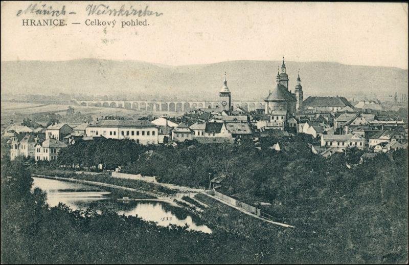 Mährisch Weißkirchen Hranice na Moravě Blick auf die Stadt 1916