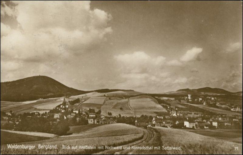 Weißstein-Waldenburg (Schlesien) Biały Kamień Wałbrzych Blick auf die Stadt 1936