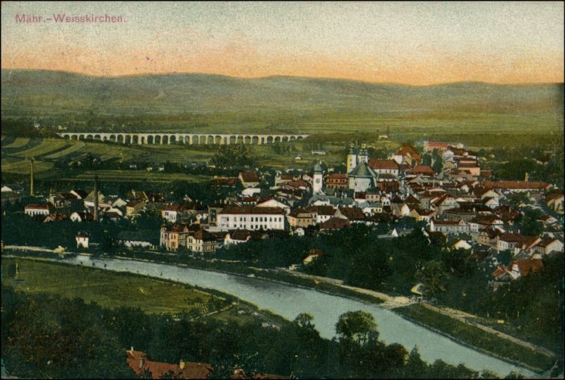 Mährisch Weißkirchen Hranice na Moravě Blick auf die Stadt 1911