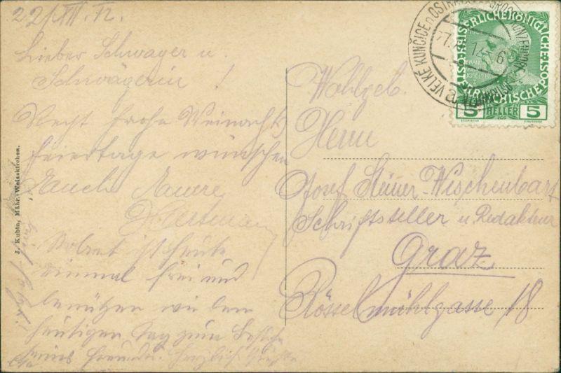 Mährisch Weißkirchen Hranice na Moravě Blick auf die Stadt 1911 1