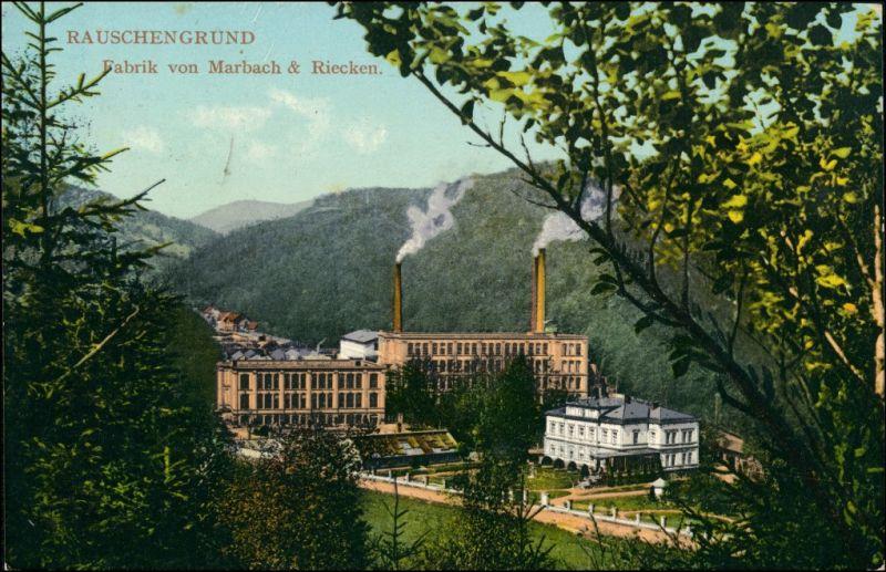 Rauschengrund-Oberleutensdorf Šumná Litvínov Fabrik Marbach und Riecken 1914 0
