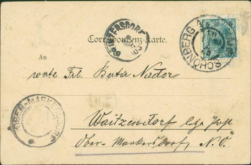Postcard Mährisch Schönberg Šumperk Partie am Sanatorium 1903 1