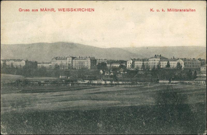 Mährisch Weißkirchen Hranice na Moravě KUK Militäranstalten 1911