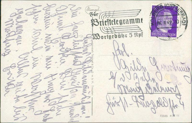Postcard Kolberg Kołobrzeg Preußenplatz 1942 1