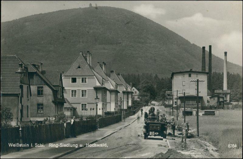 Weißstein Waldenburg Schlesien Biały Kamień Wałbrzych Ringsiedlung Fabrik 1930 0