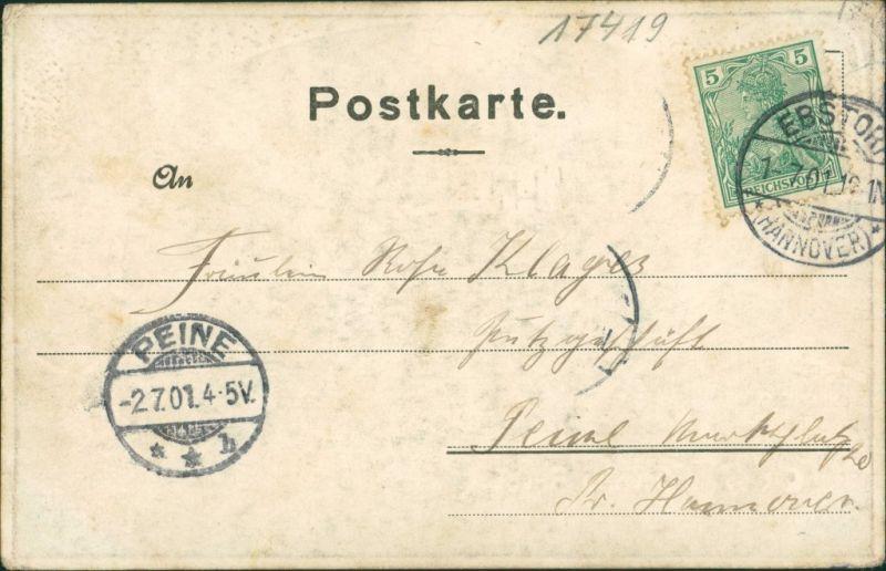 Ansichtskarte Ahlbeck (Usedom) Seebrücke Effektkarte 1901 Silber-Effekt 1