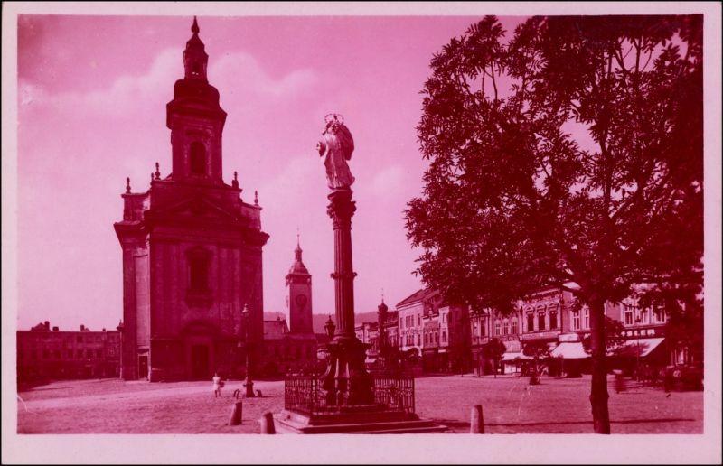 Postcard Mährisch Weißkirchen Hranice na Moravě Am Ringplatz 1918