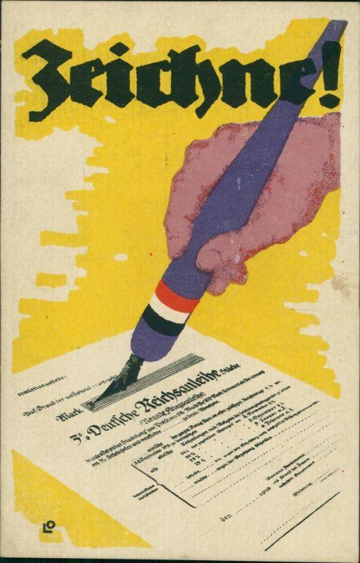 Ansichtskarte  Postkarten Kriegsanleihe - WK I Zeichne Künstlerkarte 1917