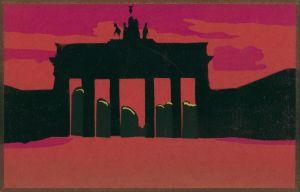 Ansichtskarte Mitte-Berlin Brandenburger Tor - col Schattenschnitt 1931