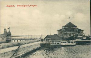 Postcard Malmö Strandpavillon 1909