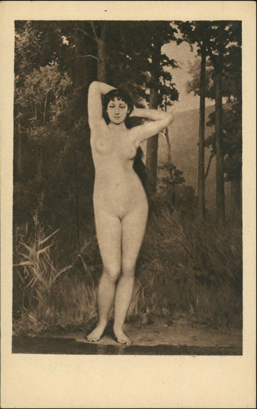 Menschen / Soziales Leben - Erotik (Nackt - Nude) - Künstleraktkarte 1917