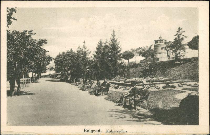 Postcard Belgrad Beograd (Београд) Kalimegdam 1932