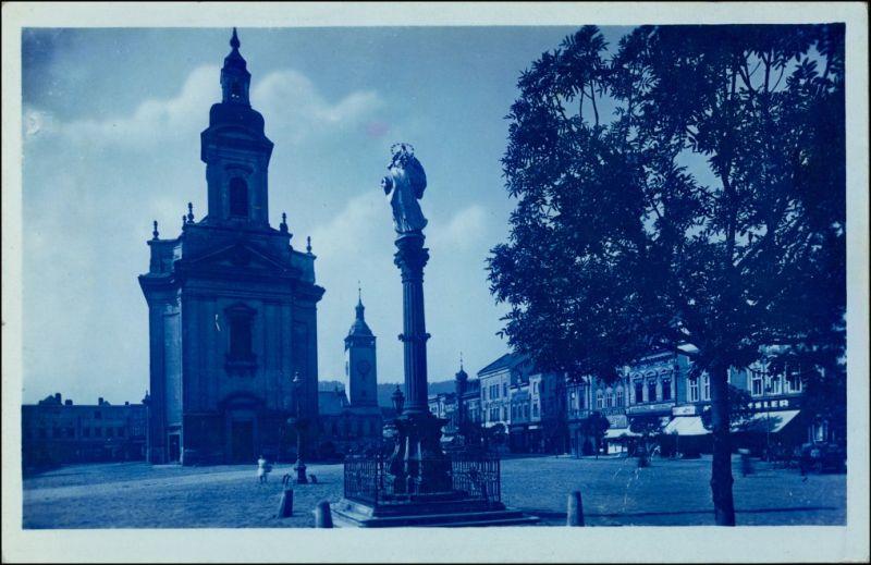 Mährisch Weißkirchen Hranice na Moravě Blaudruck: Ringplatz 1926