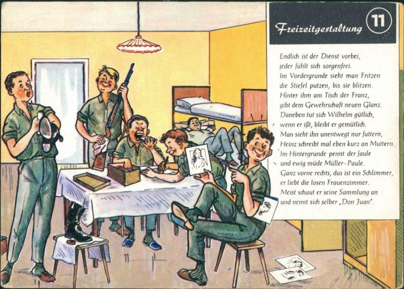 Ansichtskarte  Militär Scherzkarte Frerizeitgestaltung Bundeswehr 1979