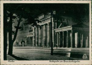 Ansichtskarte Mitte-Berlin Nachtzauber Brandenburger Tor 1942