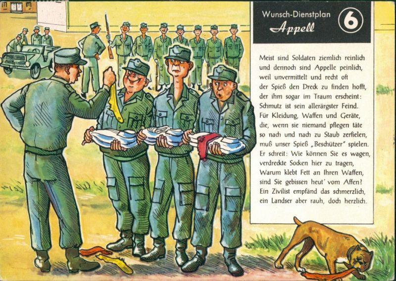 Ansichtskarte  Apell Militär Scherzkarte Bundeswehr 1978