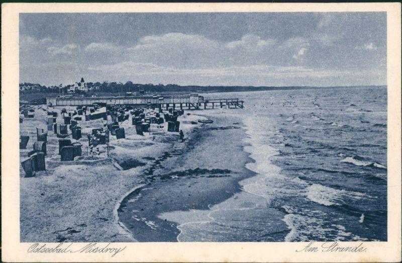 Postcard Misdroy Międzyzdroje Strandpartie, Seebrücke 1926