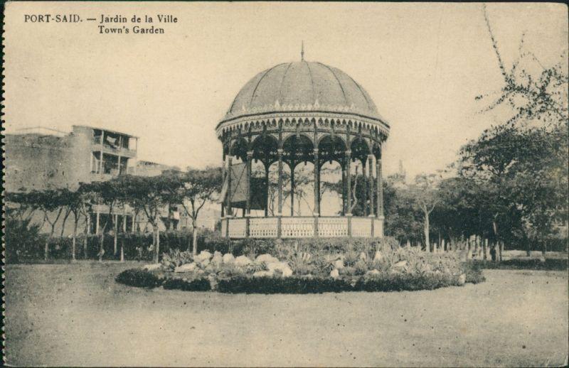 Postcard Port Said بورسعيد (Būr Saʻīd) Jardin de la Ville 1913