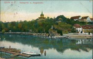 Ansichtskarte Halle (Saale) Saalepartie m. Bergschenke 1907