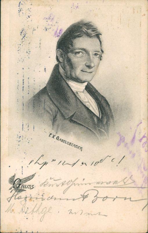 Ansichtskarte  Franz Xaver Gabelsberger Stenograph 1909