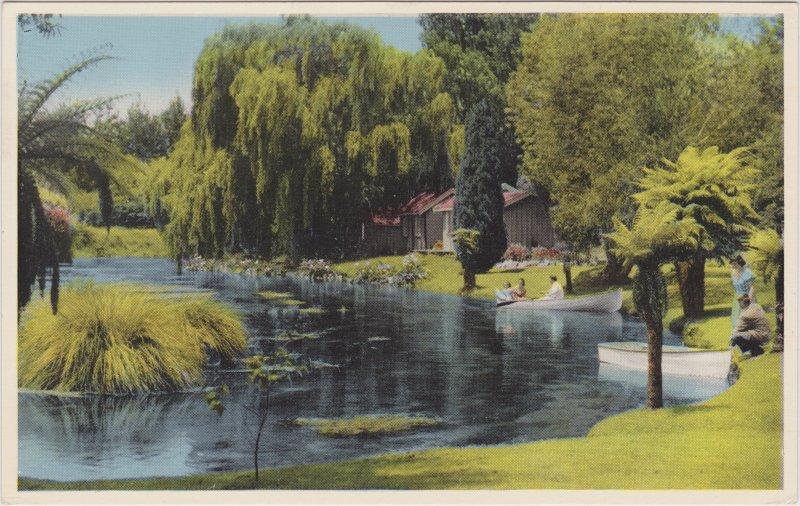 Postcard Rotorua Hamurana Springs 1938