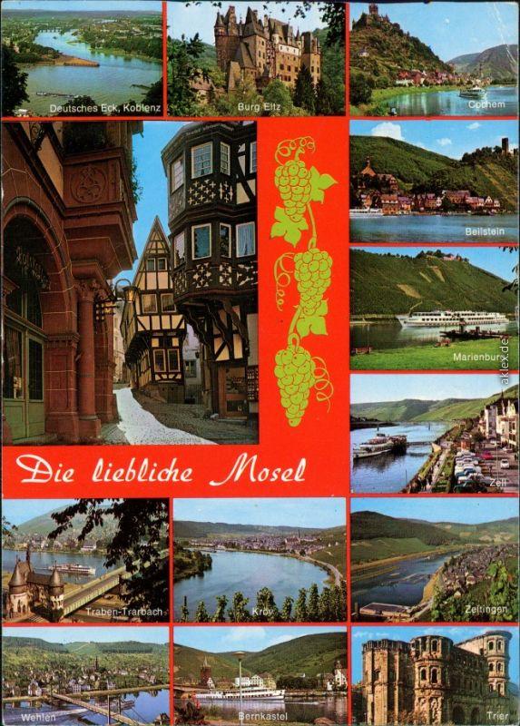 Ansichtskarte Mosel von Koblenz bis Trier Rheinland-Pfalz 1979